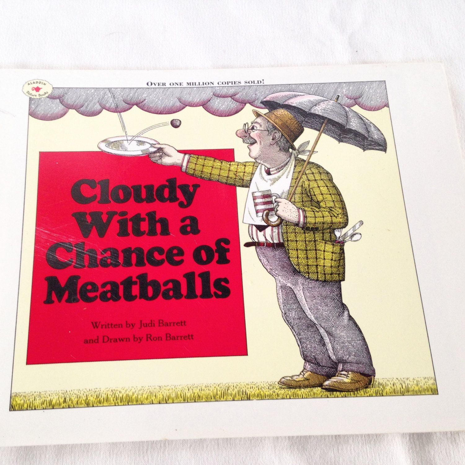 Cloudy with a Chance of Meatballs - Vintage Kids Small  Book 1982 by RetroVintageHeart on Etsy