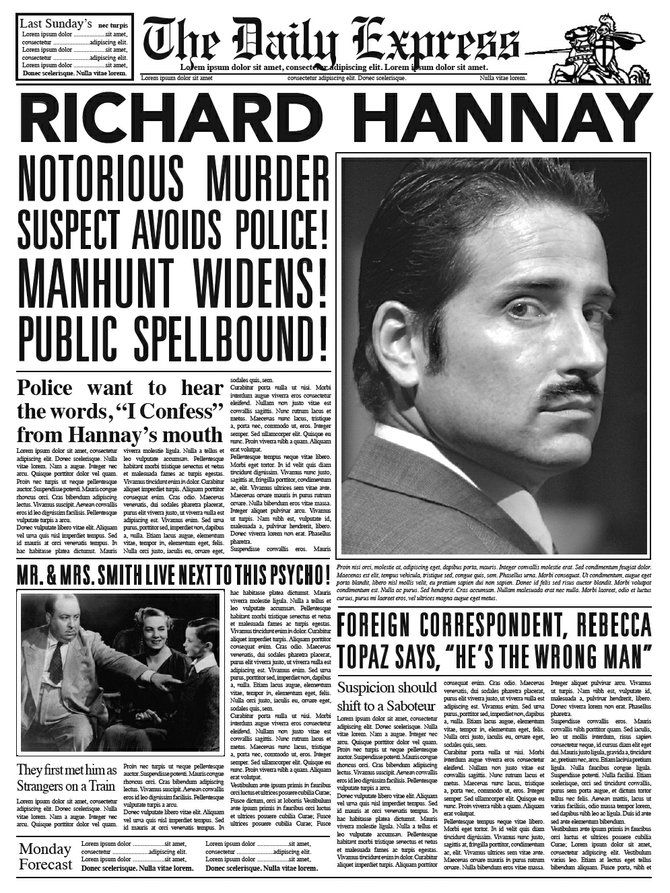 the 39 steps, movie prop newspaper 39 steps Pinterest - newspaper