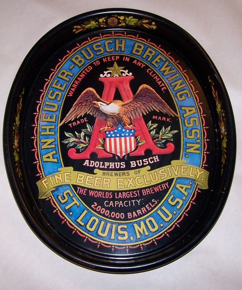 Anheuser Busch Brewing Serving Tray Beer Trays Pinterest Beer