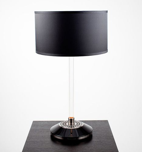 Light Drive Table Lamp Powered Through The Base And Safely Lights The Stem Table Lamp Lamp Modern Contemporary Design
