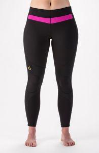 Women's KNEE-Tec Tights Black/Fuchsia Front