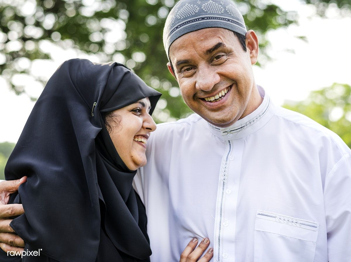 Download premium image of Sweet Muslim husband and wife