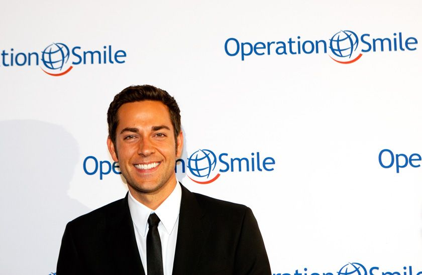 Actor zachary levi star of nbcs chuck was honored by
