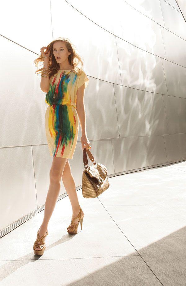 ECI Print Charmeuse Dress