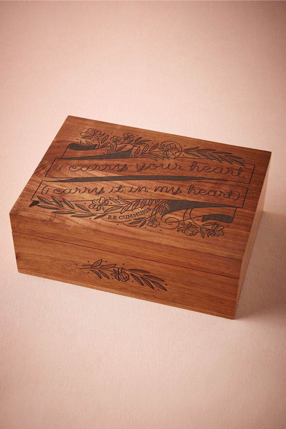 I Carry Your Heart Wood Keepsake Box Memory Box  th Fifth Five