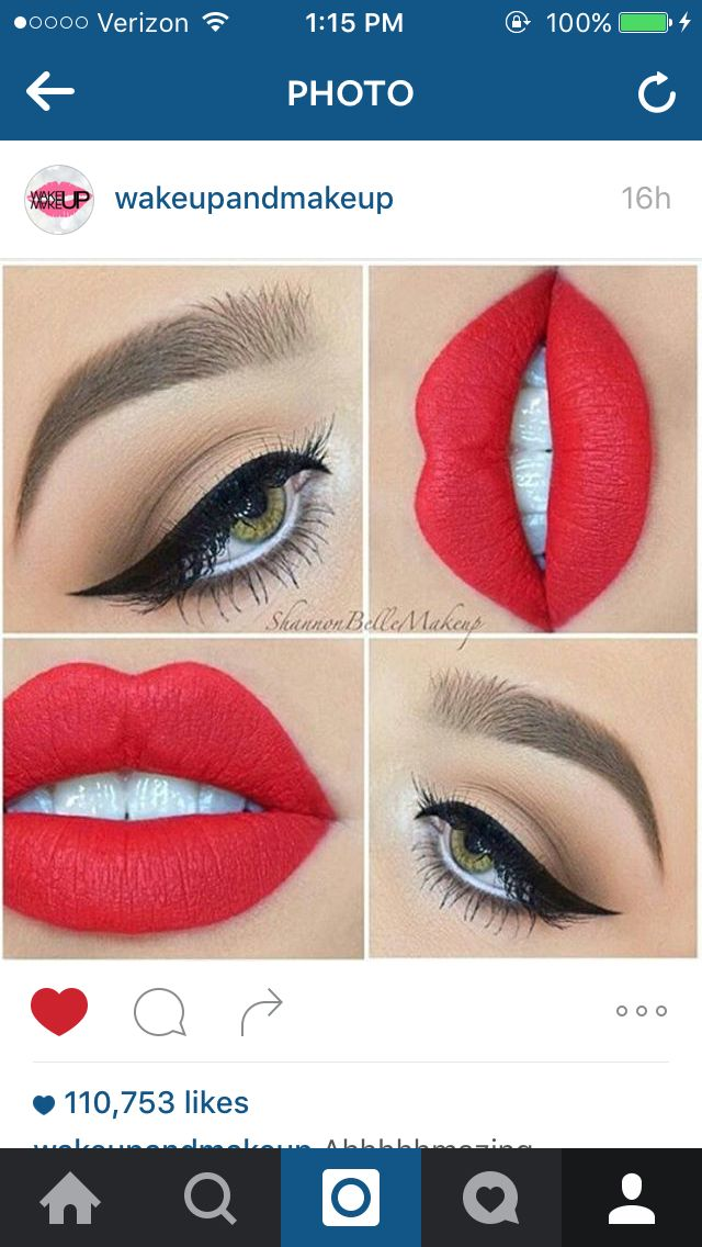 Love the bright red lips!