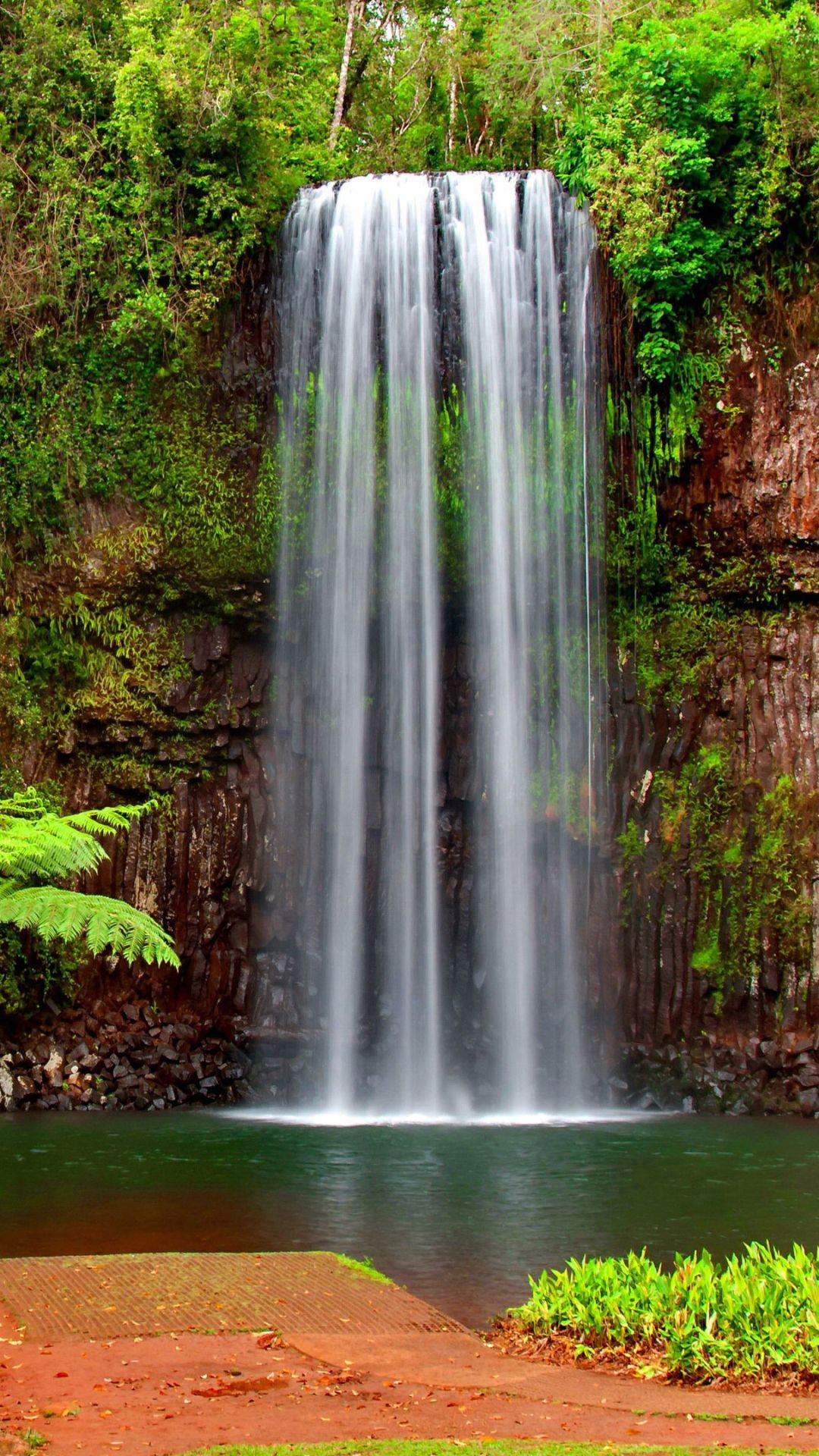 55 Tropical Waterfalls Wallpapers Download At Wallpaperbro Waterfall Wallpaper Waterfall Cool Pictures Of Nature