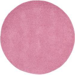 Photo of benuta Hochflor Shaggyteppich Swirls Rosa ø 120 cm rund – Langflor Teppich für Wohnzimmer benuta