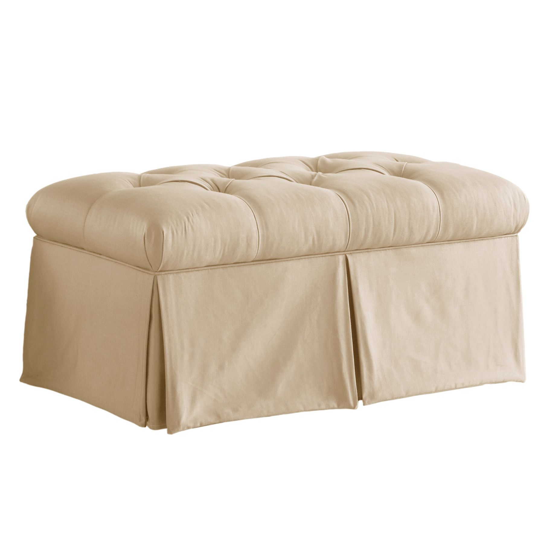 Skyline Furniture Tufted Skirted Bedroom Storage Ottoman Wayfair Dont Really Like The Design Much But A Storage Bench Tufted Storage Bench Bedroom Storage