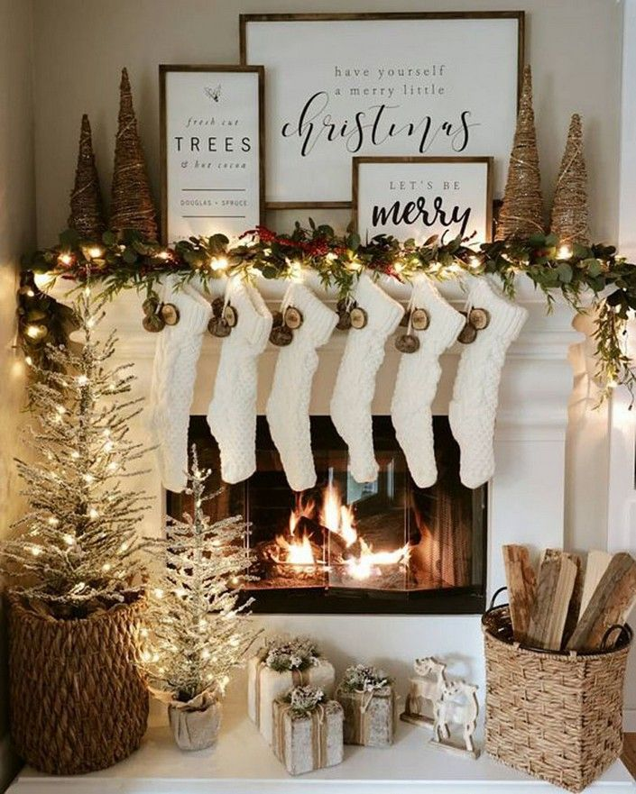 Photo of 28 Christmas Fireplace Decorations Ideas 6