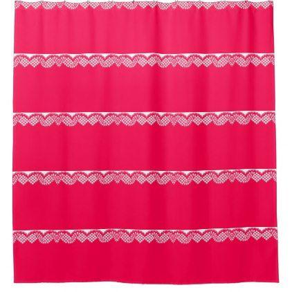 Crochet Lace Shower Curtain