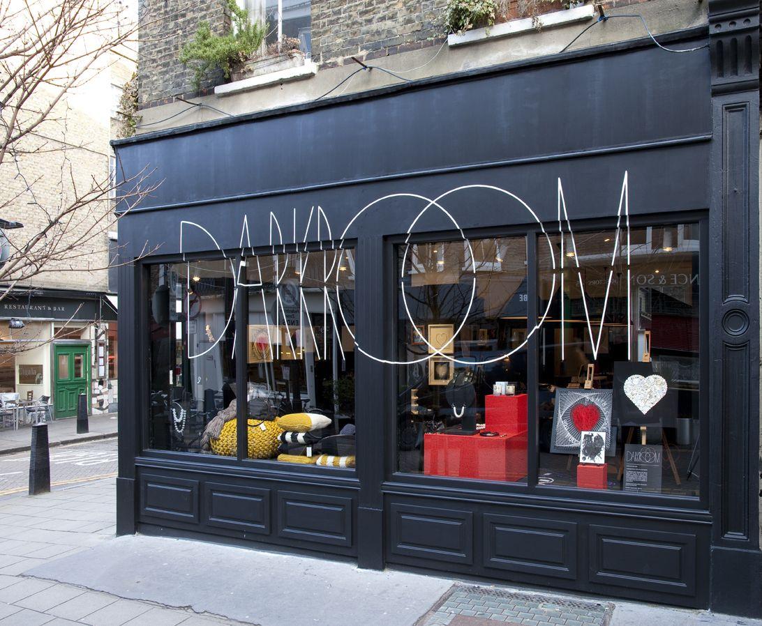 Darkroom / London Shop signage, Storefront design, Cafe