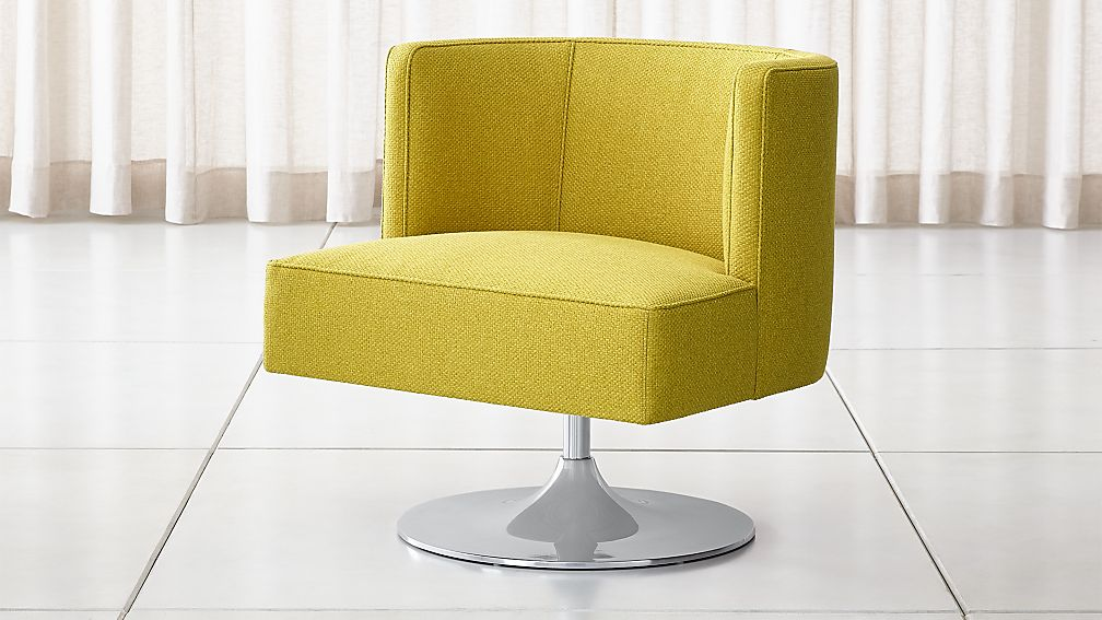 Grayson Mustard Yellow Swivel Chair Reviews Crate And Barrel Swivel Chair Upholstery Fabric For Chairs Chair