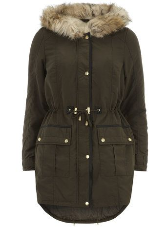 Khaki Long Fur Hood Parka Jacket | Parka, Khakis and Hoods
