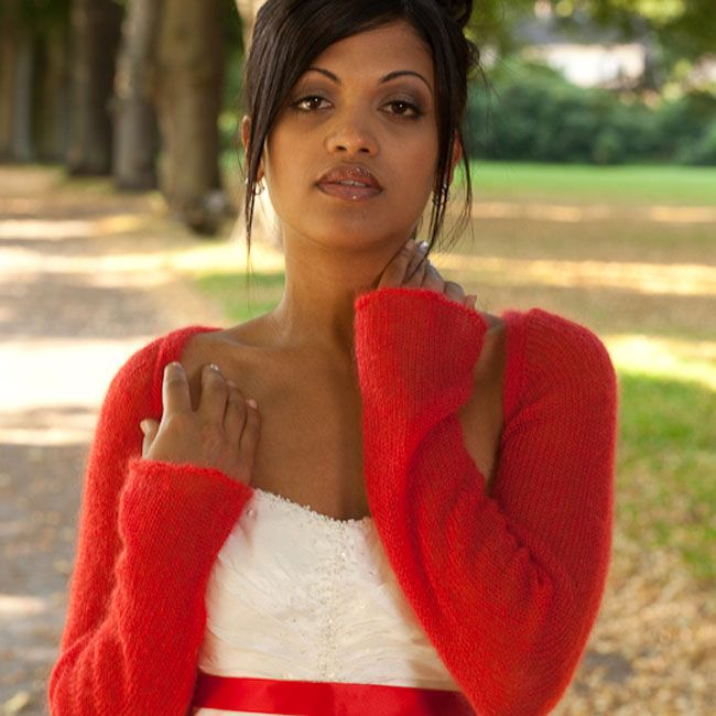 Photo of Getting married with a red bolero – a splash of color for your wedding and red is the color of love