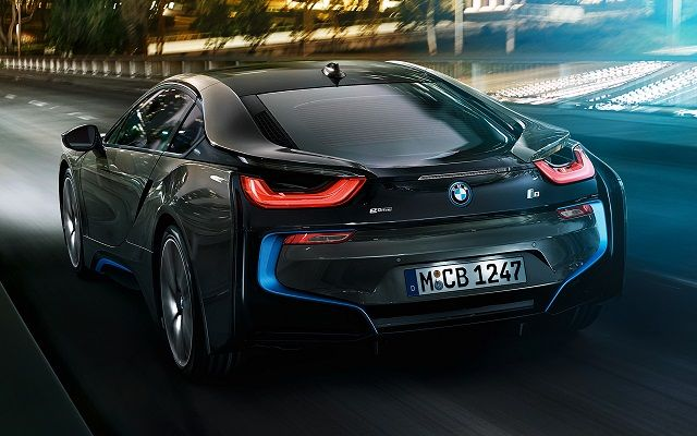 Bmw I8 Sports Car Review Back View Bmw I8 Sports Pinterest