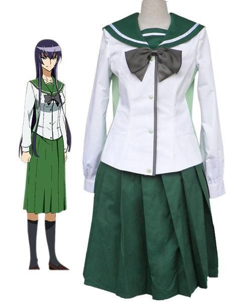 Free Shipping Anime Highschool Of The Dead Fujimi High School Girls School Unifrom Cosplay Costume Cosplay Costumes One Piece Cosplay Anime Cosplay Costumes