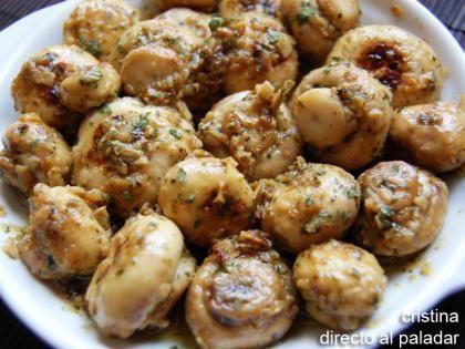 Recetas De Cocina Con Champiñones   Champinones Al Ajillo Receta Receta El Ajo Ajo Y Tapas