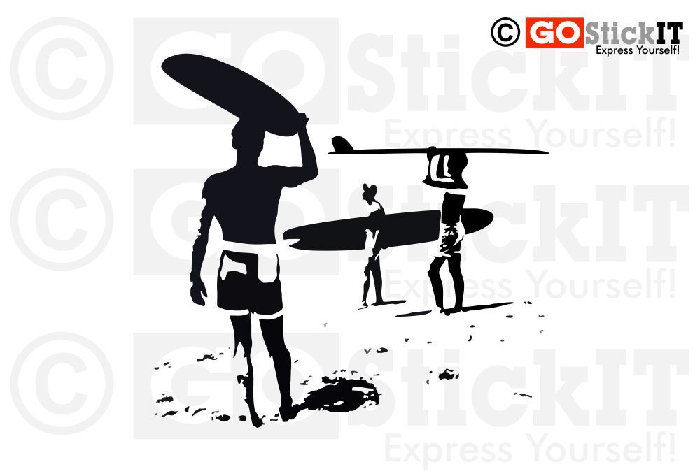 Endless summer surf sunset wall art decal beach all decal