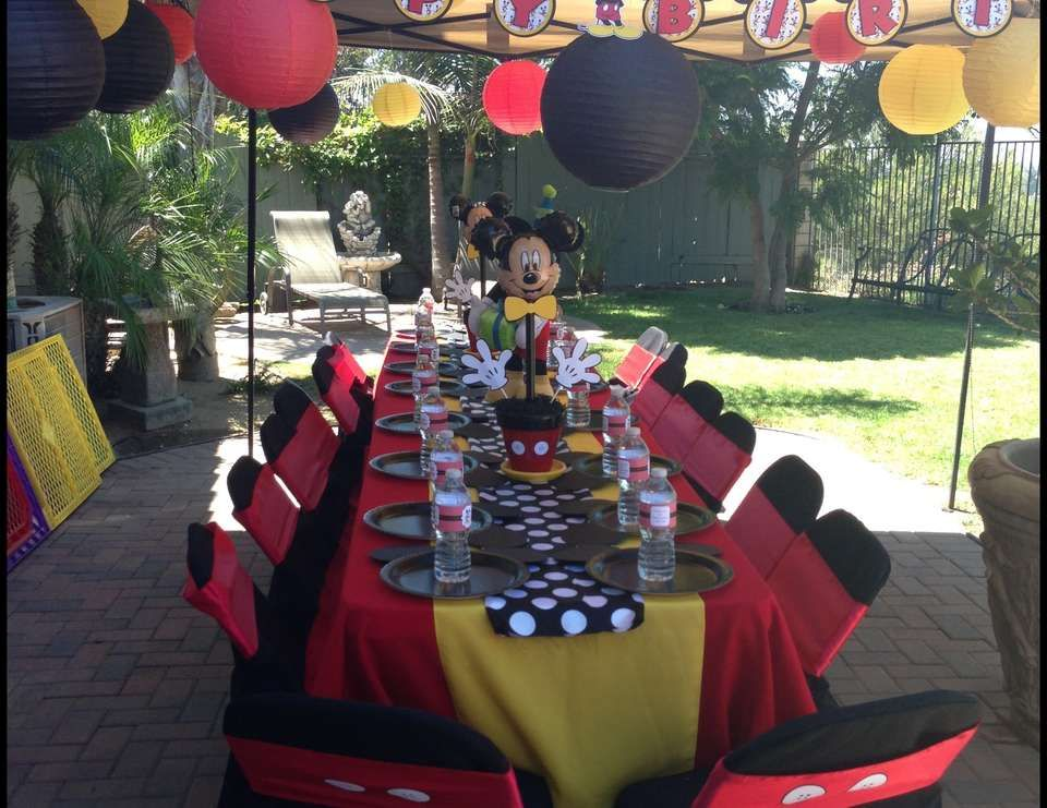 "Mickey Mouse / Birthday ""Little Jacob's 1st Birthday"
