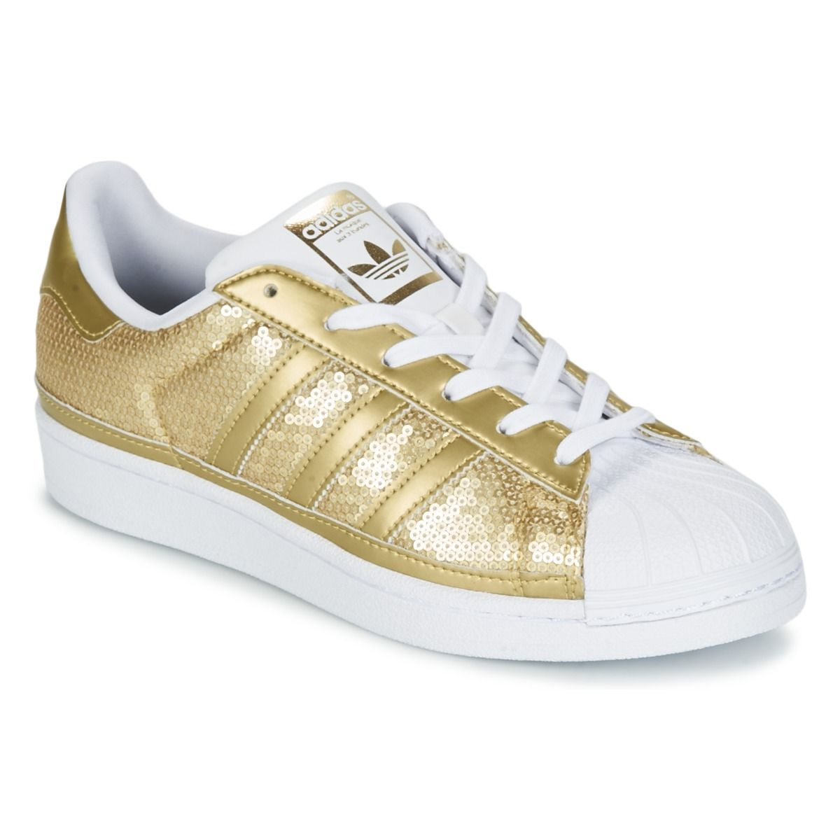 0963224bb08 Baskets basses adidas Originals SUPERSTAR W Or prix promo Baskets Femme  Spartoo 89.99 € TTC