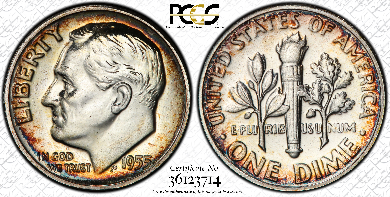 1955 25c PROOF Washington Quarter PCGS PR66