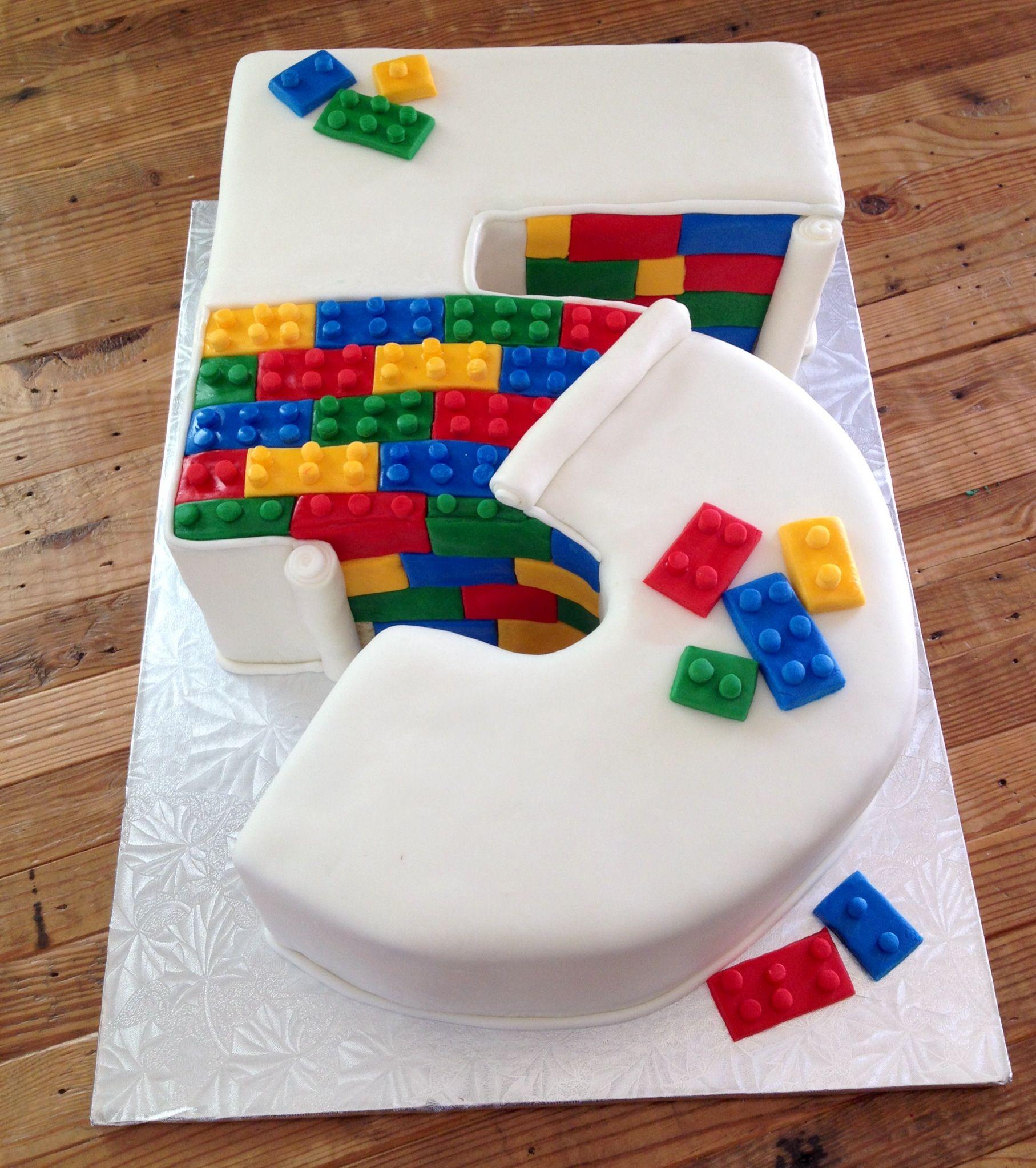 No. 5 Lego cake