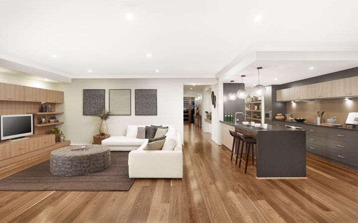 Chelsea UW Kitchen Living 01, New Home Designs - Metricon | For the ...