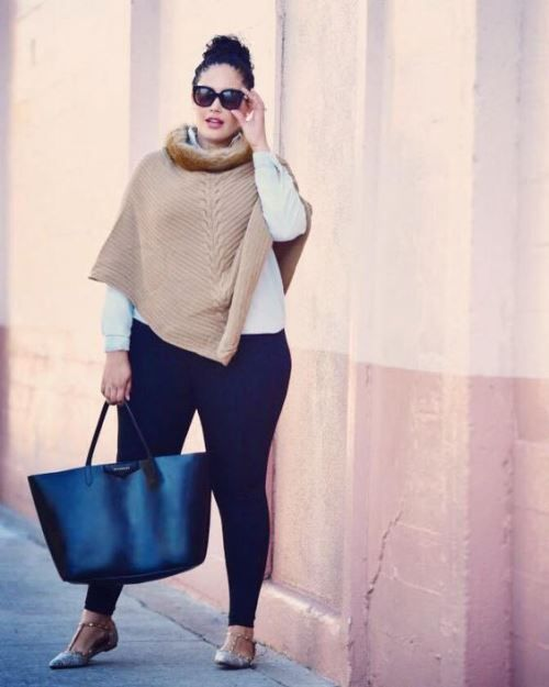 Stylish And Chic Style Winter Outfits For Curvy Ladies