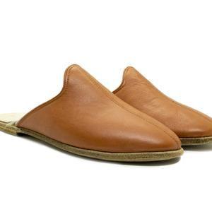 Photo of Denels Handmade Women Black Leather Slippers / Incinta Flat Mocassini / Sandali estivi morbidi / Intasati per scarpe da donna / Regalo di compleanno