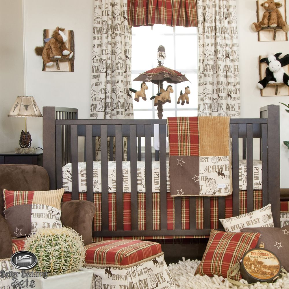 Baby cribs bedding for boys - Baby Boy Cowboy Horse Pony Western Quilt Babies Crib Nursery Newborn Bedding Set