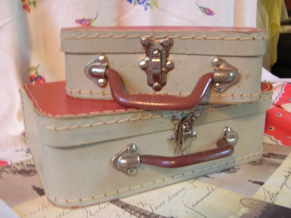 Vintage 1960s Toy Doll SuitcasesSet 2For by BobbySoxBoutique, $16.00