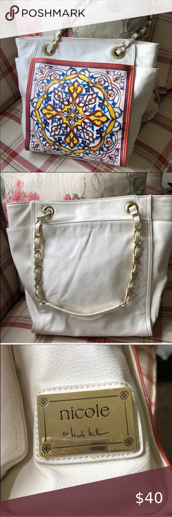 Handbag Nicole Miller Tote in 2020 Womens tote bags