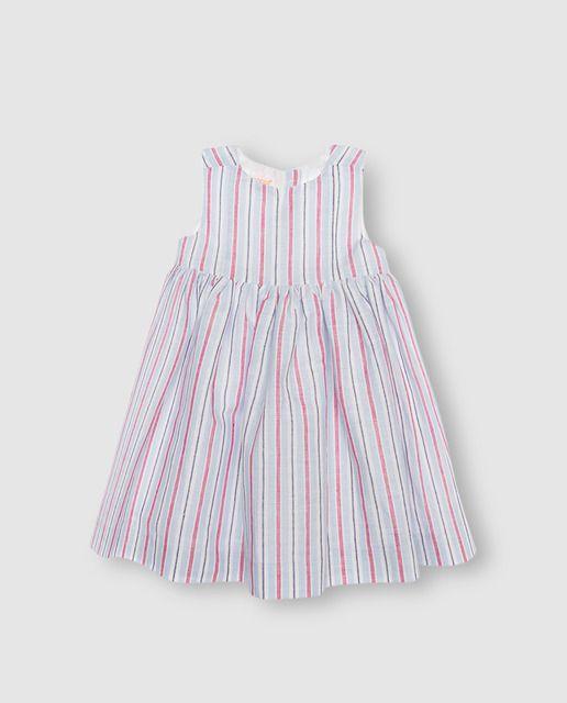 aee105ef9 Vestido de niña Gocco de rayas en azul