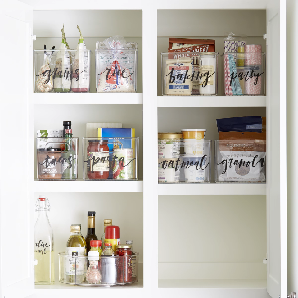Sort and organize everything from packaged goods and produce in a pantry to froz…