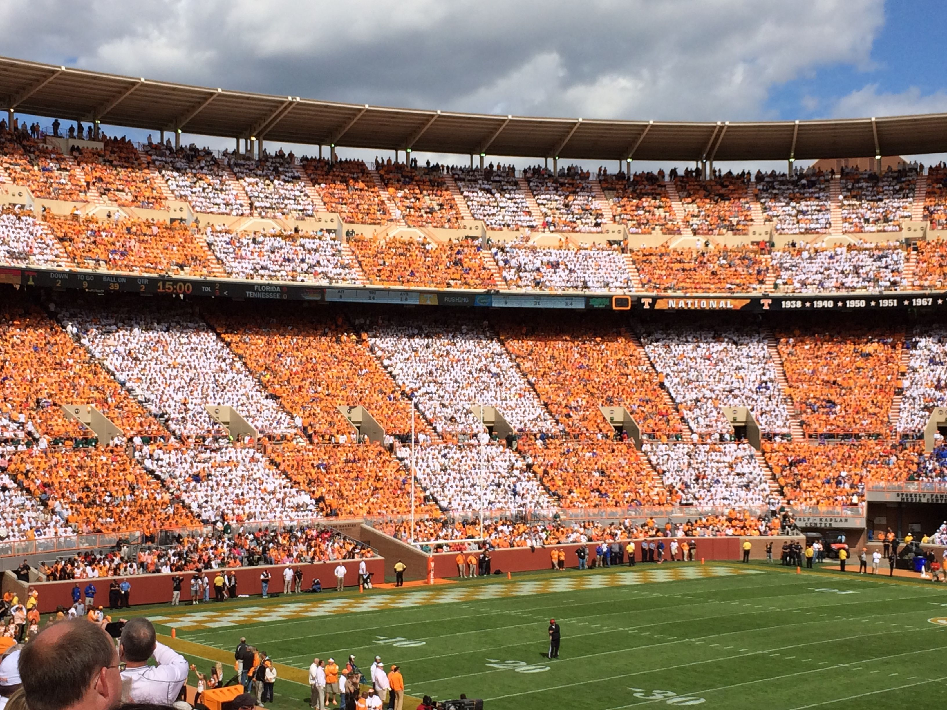 Tennessee vs Florida 2014 the first time ever to
