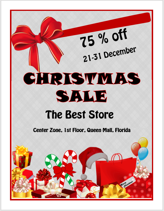 christmas sale flyer template stationary templates pinterest