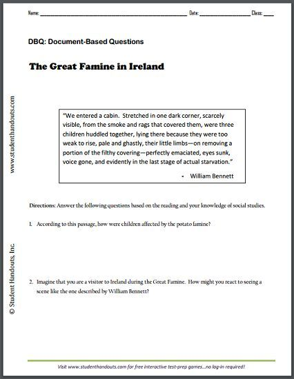 Quot The Great Famine In Ireland Quot By William Bennett Free