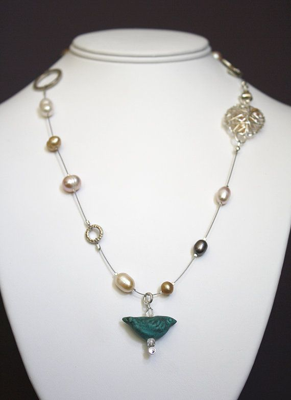 Silver Bird's Nest necklace by dmexclusives on Etsy, $36.00