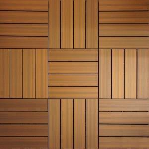 Newtechwood Ultrashield 12 In X Peruvian Teak Composite Quick Deck Tile 10 Tiles Case Qd Pk Tk At The Home Depot