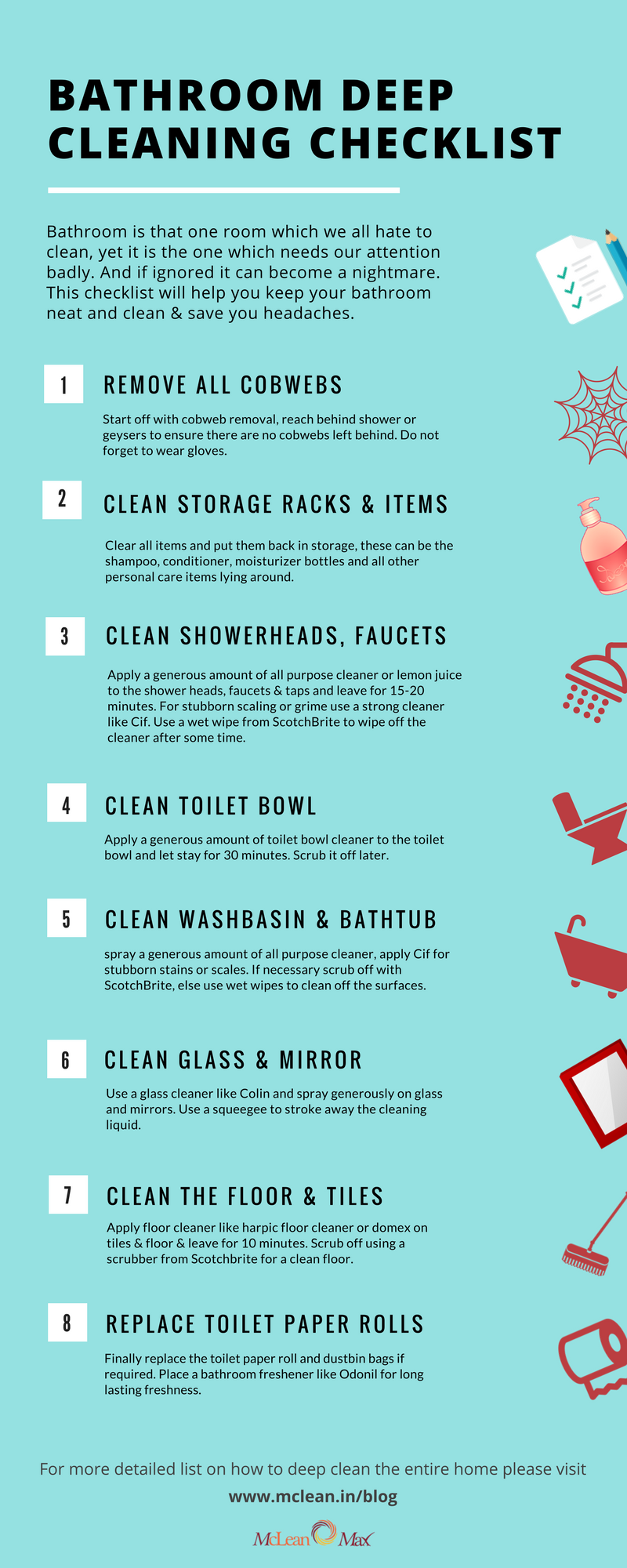 Bathroom Deep Cleaning Checklist Deep Clean Your Bathroom With This Simple Step By Step Guide Bathr Deep Cleaning Checklist Cleaning Checklist Clean House