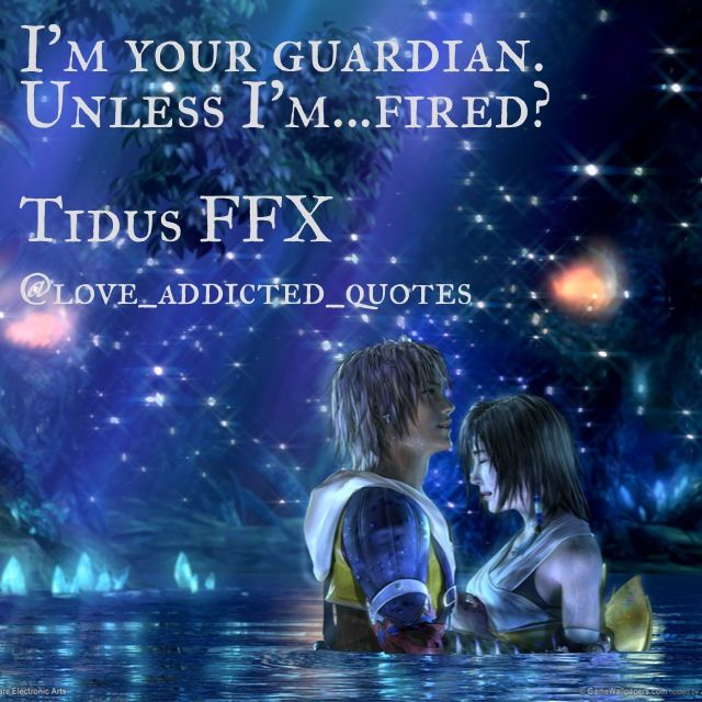 Love Fantasy Quotes: Quotes From Tidus FFX