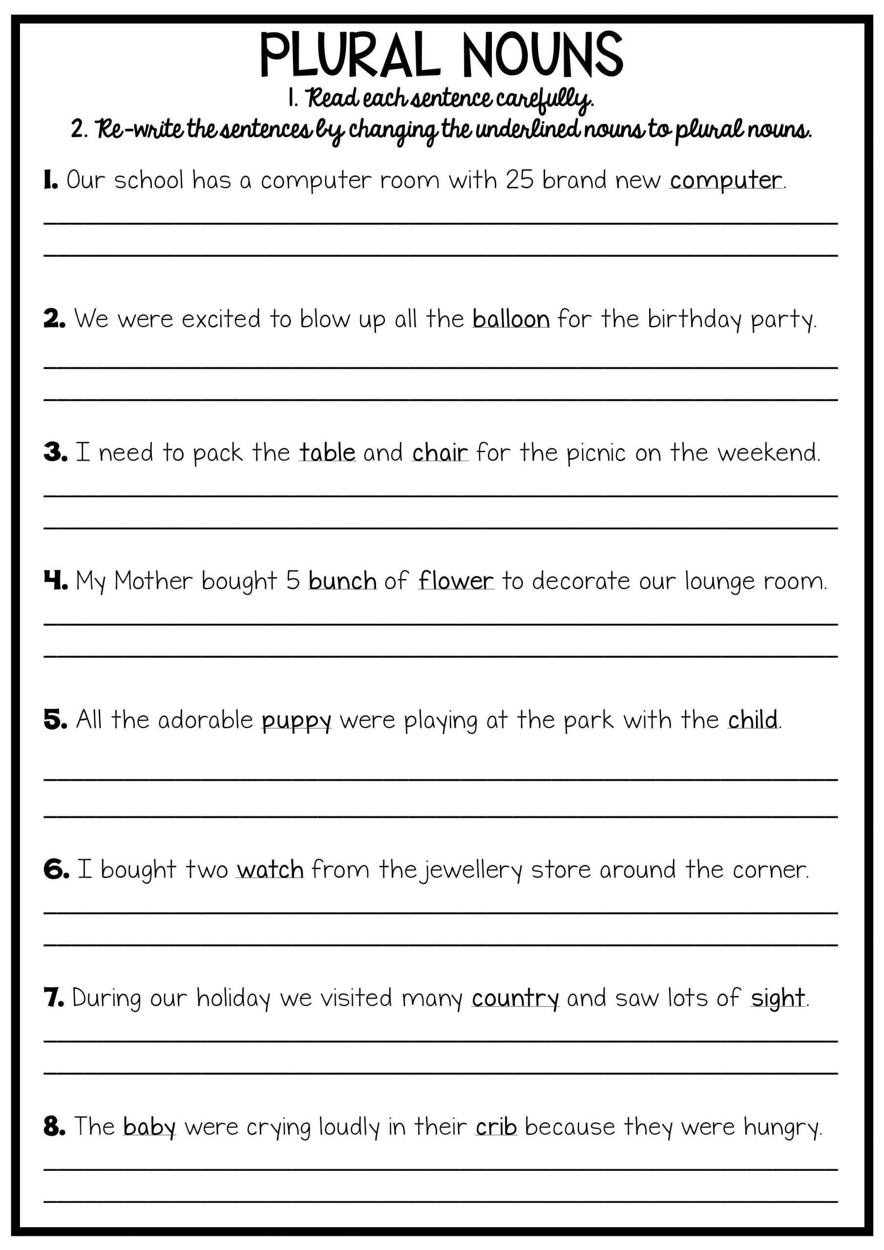 Free Printable 6th Grade Writing Worksheets Learning How