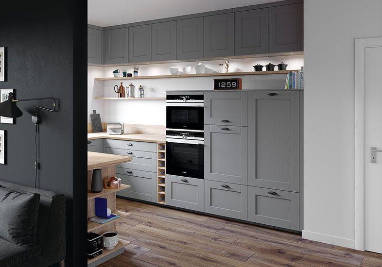Photo Petite Cuisine Tendance Ambiance Brooklyn Armoires De Rangement En 2020 Cuisine Moderne Meuble Haut Petite Cuisine Moderne