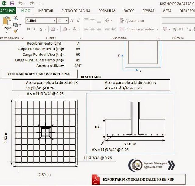 Hojas de c lculos y programas para ingenier a civil for Manual de diseno y construccion de albercas pdf