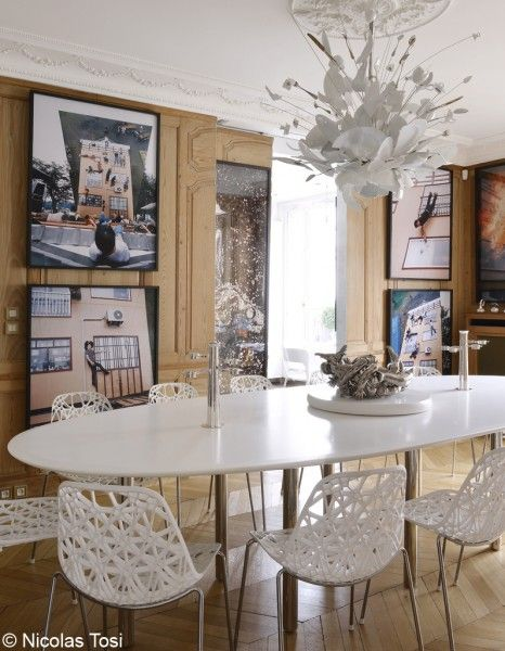 Paris Apartment Of Jeweler Lorenz Bumer Fun Dining Room Chandelier Broken Crockery