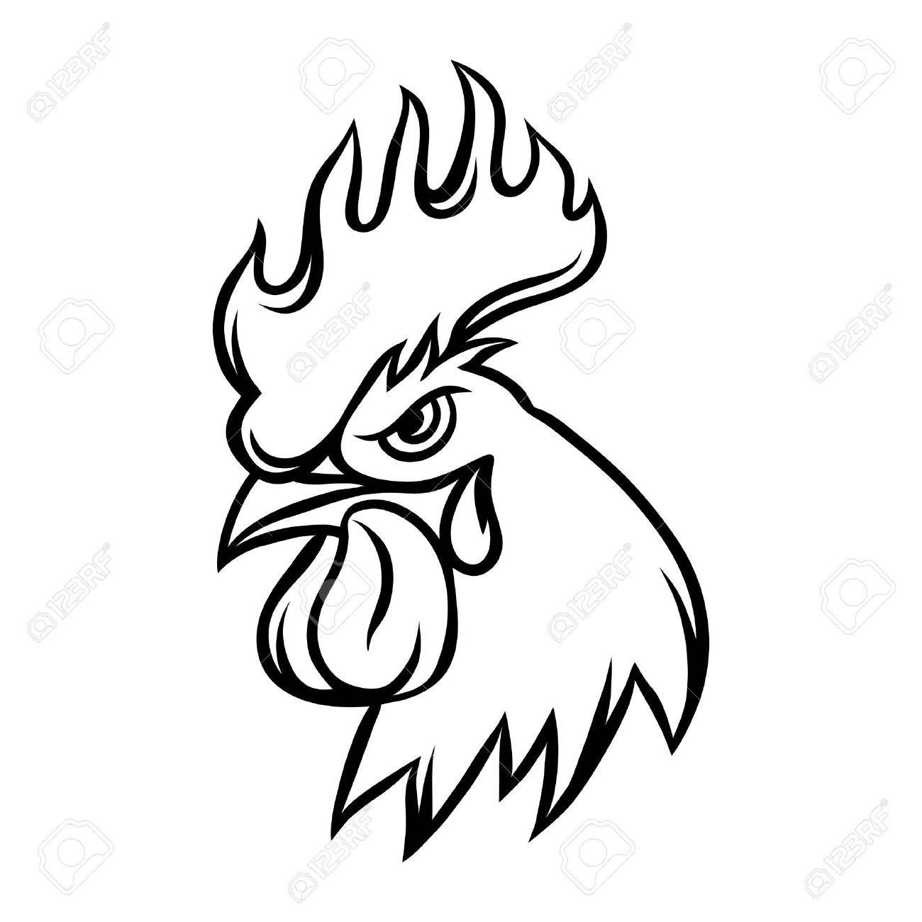 Rooster Head Drawing Rooster Tattoo Chicken Drawing Rooster Art
