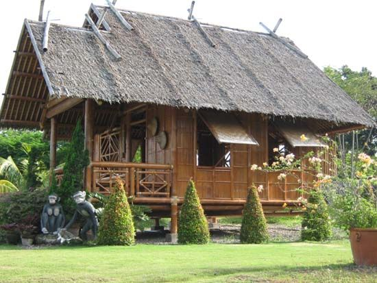 Bamboo House Bamboo Structure Pinterest Bamboo House House