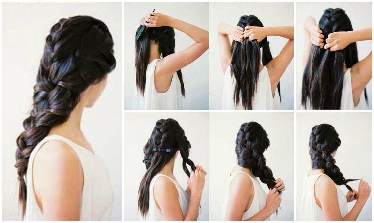 Abendfrisuren Selber Machen Lange Haare Zopf Geflochten Zopfe Einfach Neue Frisuren Abendfrisuren