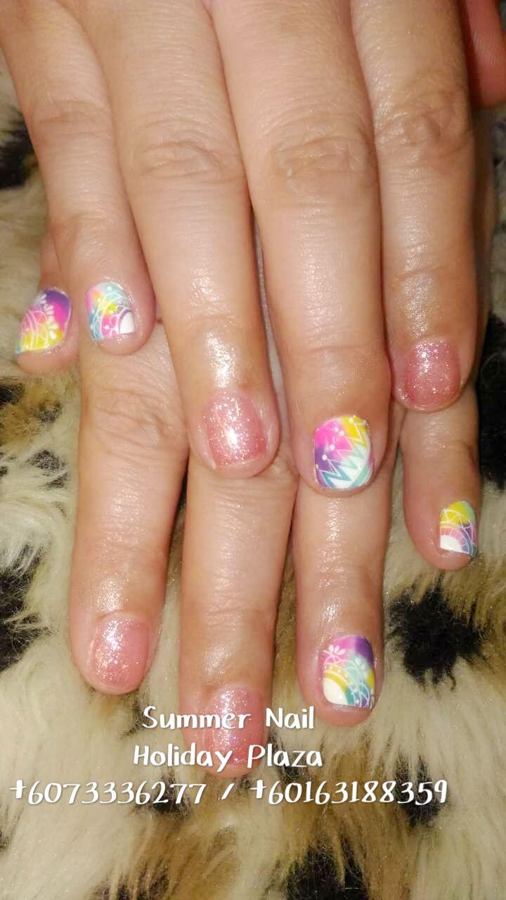 Summer Nail Holiday Plaza Mcdonald S Upstairs 3rd Floor 6073336277 Whatsapp 60163188359 Summer Nails Bridal Nails Artificial Nails
